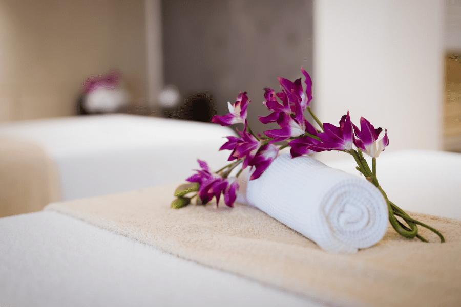 a massage bed
